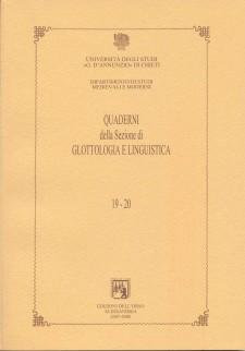 Series and Supplements of the Notebooks of the Section of Linguistics of the Department of Medieval and Modern Studies